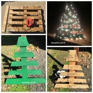 DIY Pallet Board Christmas Tree Idea