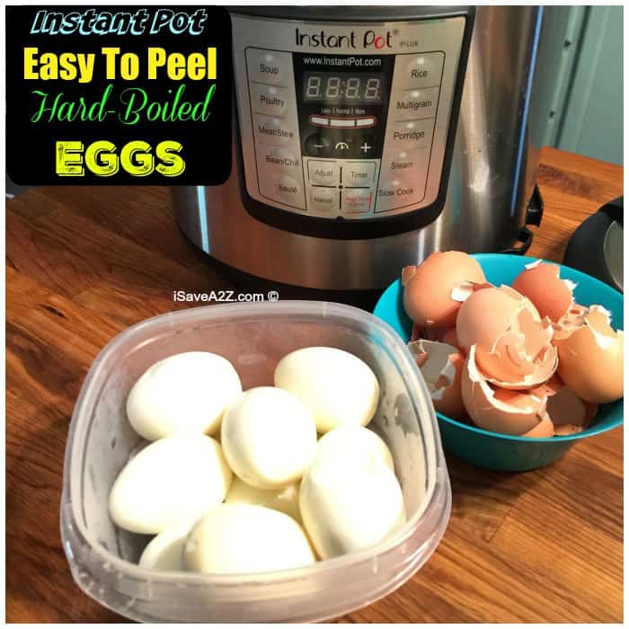 Easy to Peel Hard Boiled Eggs in a Pressure Cooker