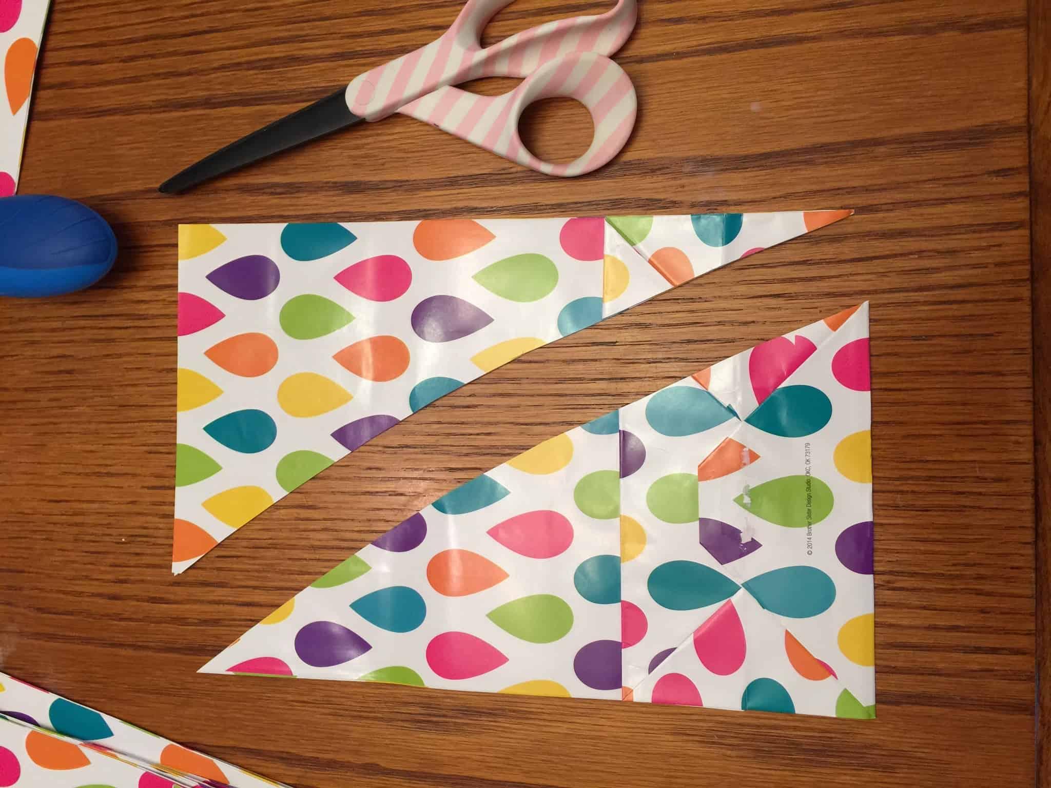 Easy Paper Bag Stars