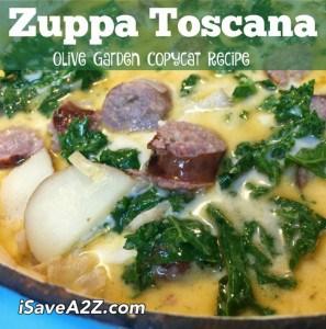 Olive Garden Copycat Recipe for Zuppa Toscana Soup iSaveA2Zcom
