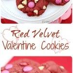 Easy Red Velvet Valentine Cookies
