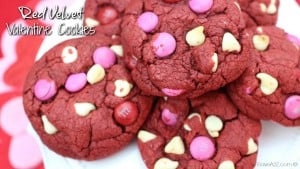 Easy Red Velvet Valentine Cookies