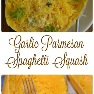 This garlic parmesan spaghetti squash recipe is the perfect side dish for a low carb or keto diet lifestyle. The garlic and parmesan flavors take this side dish up a notch!