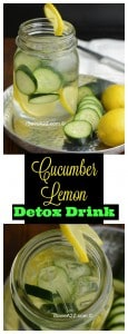 Cucumber Lemon Detox Drink