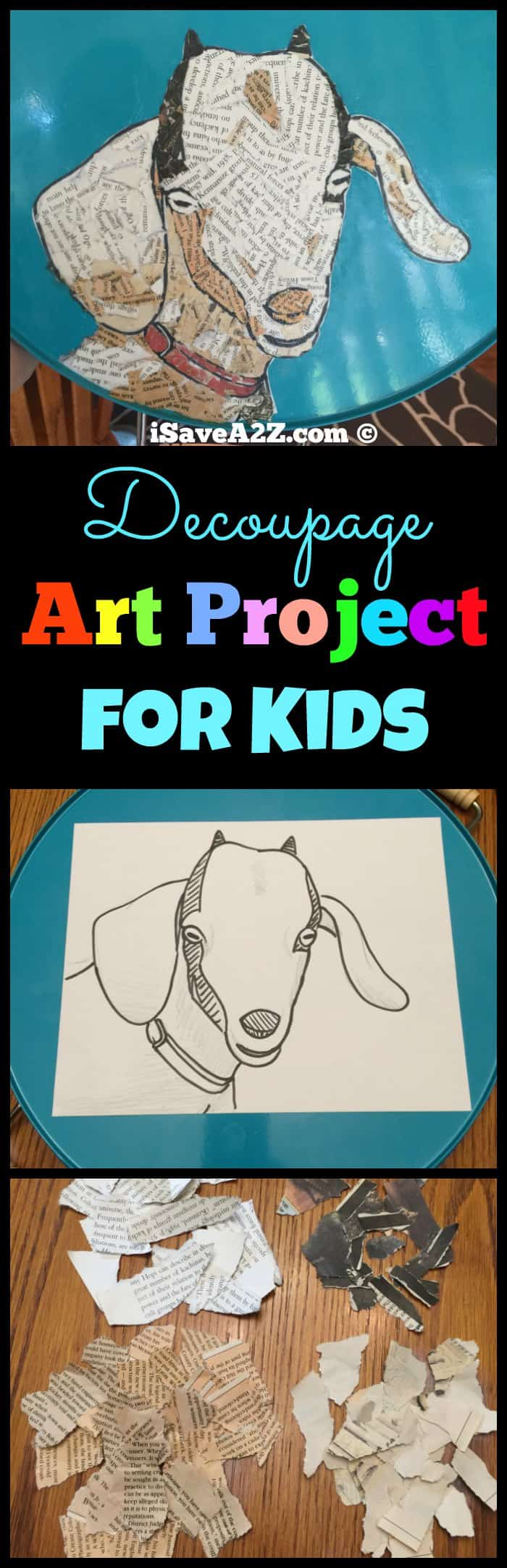 Decoupage Art Project for Kids