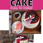 Watermelon cake recipe on a white plate