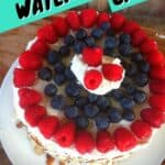 Watermelon cake on a white plate