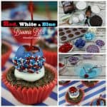 Red, White, and Blue Brownie Bites