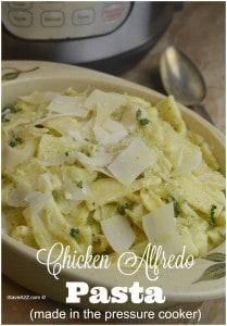 Chicken Alfredo Pasta (made in the pressure cooker)