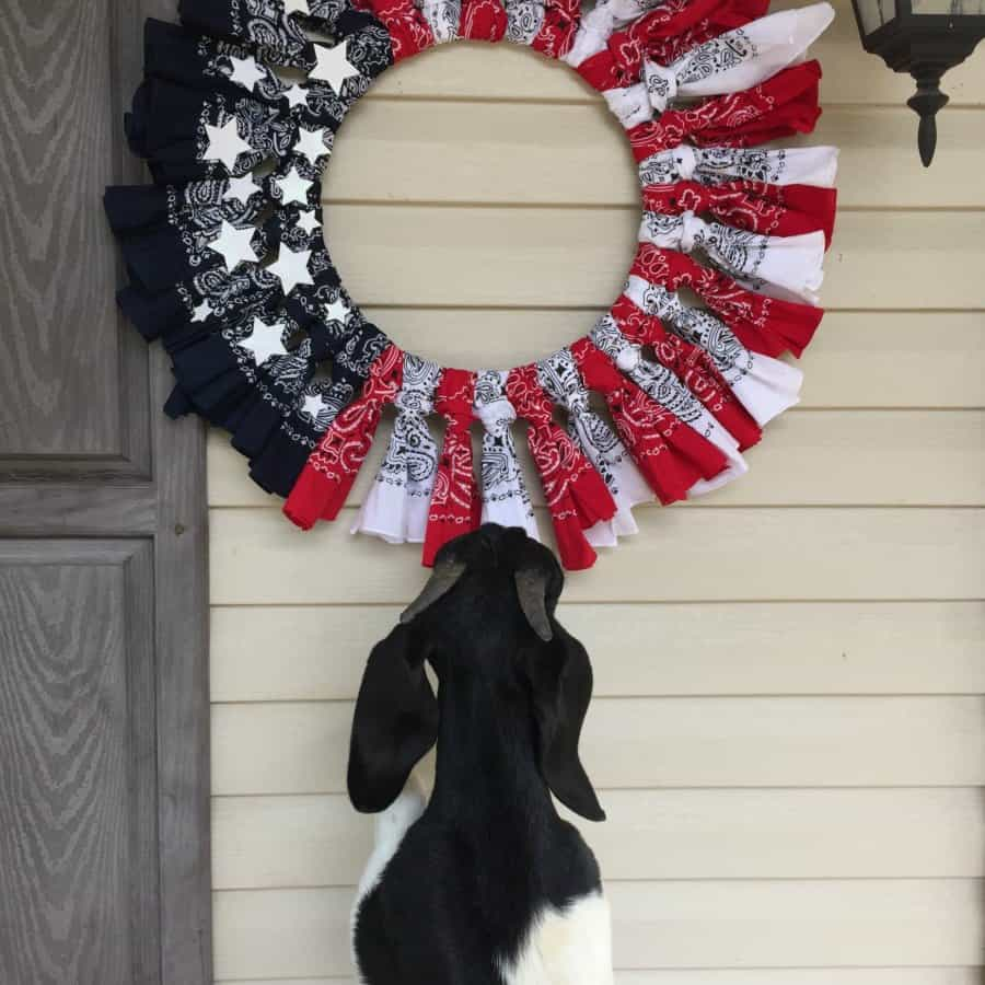 American Flag Bandana Wreath