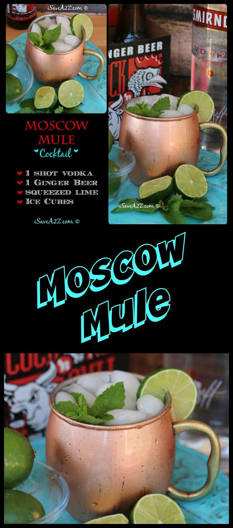 Moscow Mule Drink Recipe using my favorite Moscow Mule Mugs