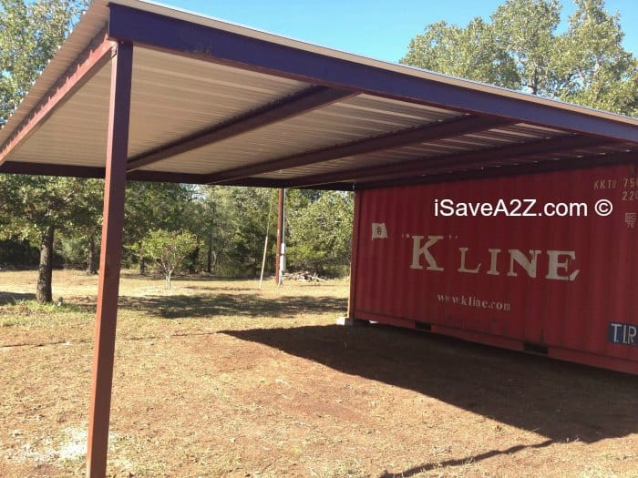 Shipping Container Carport and Storage Idea & Shipping Container Carport and Storage Idea - iSaveA2Z.com