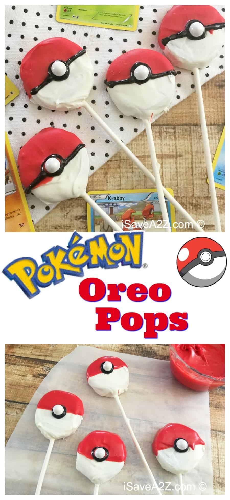Easy Pokeball Oreo Pops recipe