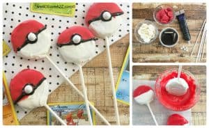 Easy Pokeball Oreo Pops recipe