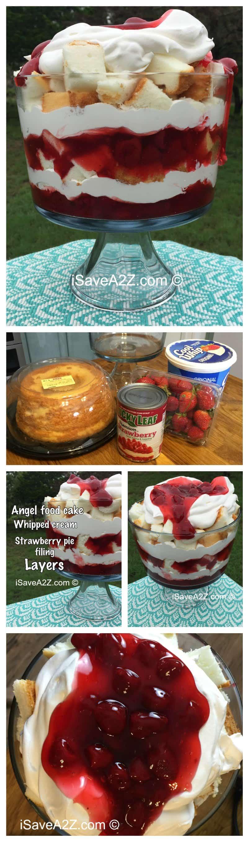 No Bake Strawberry Angel Food Cake