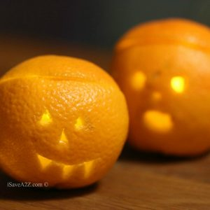 Halloween Pumpkins Made Out of Oranges