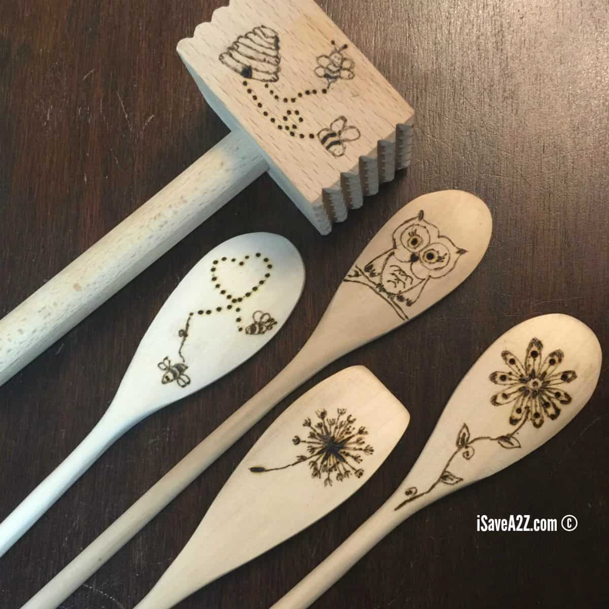 How To Burn Designs On Wooden Spoons