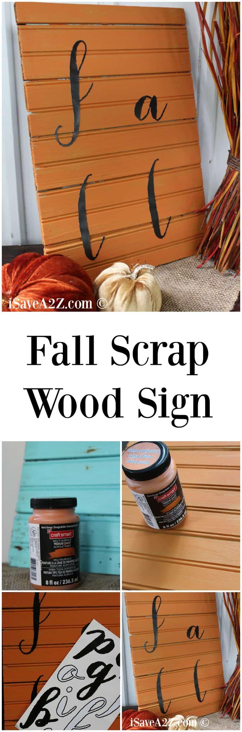 Scrap Wood Projects: Fall Scrap Wood Sign