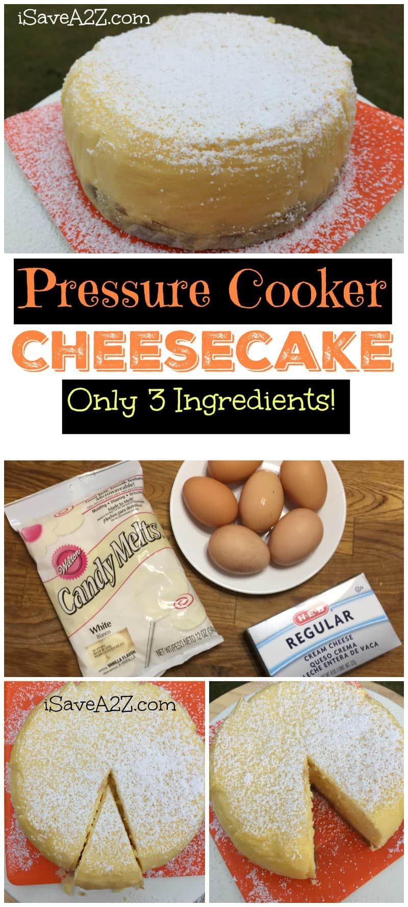 3 Ingredient Japanese Cheesecake made in the Pressure Cooker