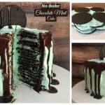 NO BAKE Chocolate Mint Cake