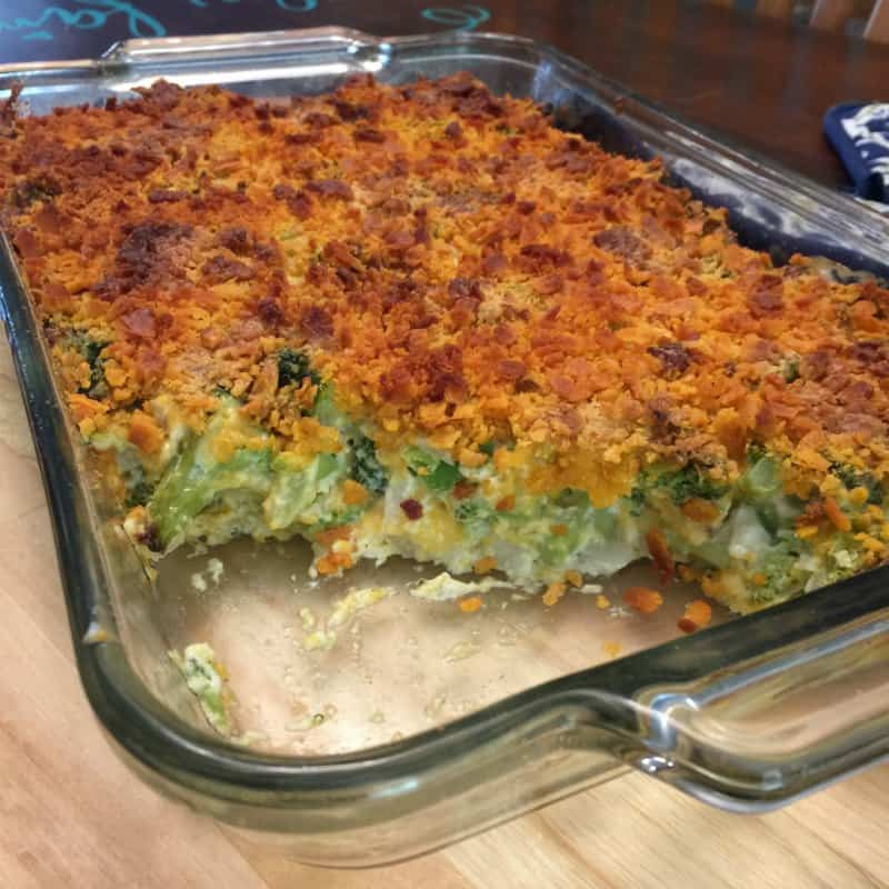 Cheese Crusted Broccoli Casserole without rice