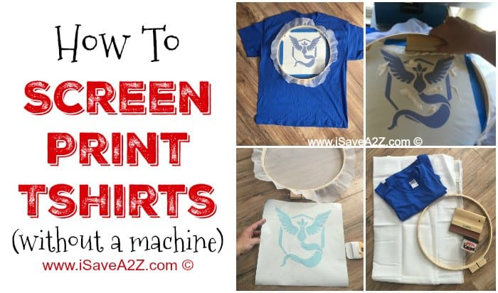 How to Screen Print Tshirts without a Machine - iSaveA2Z.com