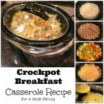 Crockpot Breakfast Casserole Recipe for a Large Family