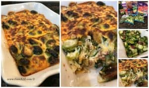 Baked Brussel Sprouts Casserole Keto Friendly