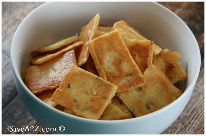 Low Carb Cheese Crackers Recipe (Keto Friendly) - iSaveA2Z.com