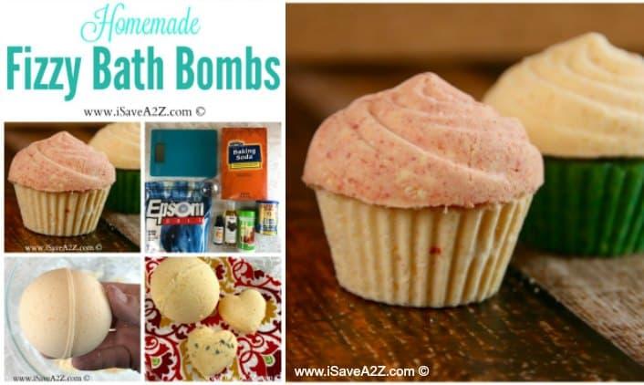 Homemade Fizzy Bath Bombs