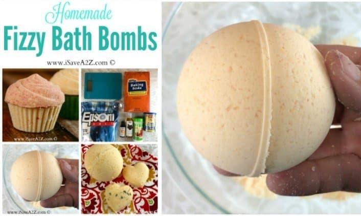 Homemade Fizzy Bath Bombs Recipe