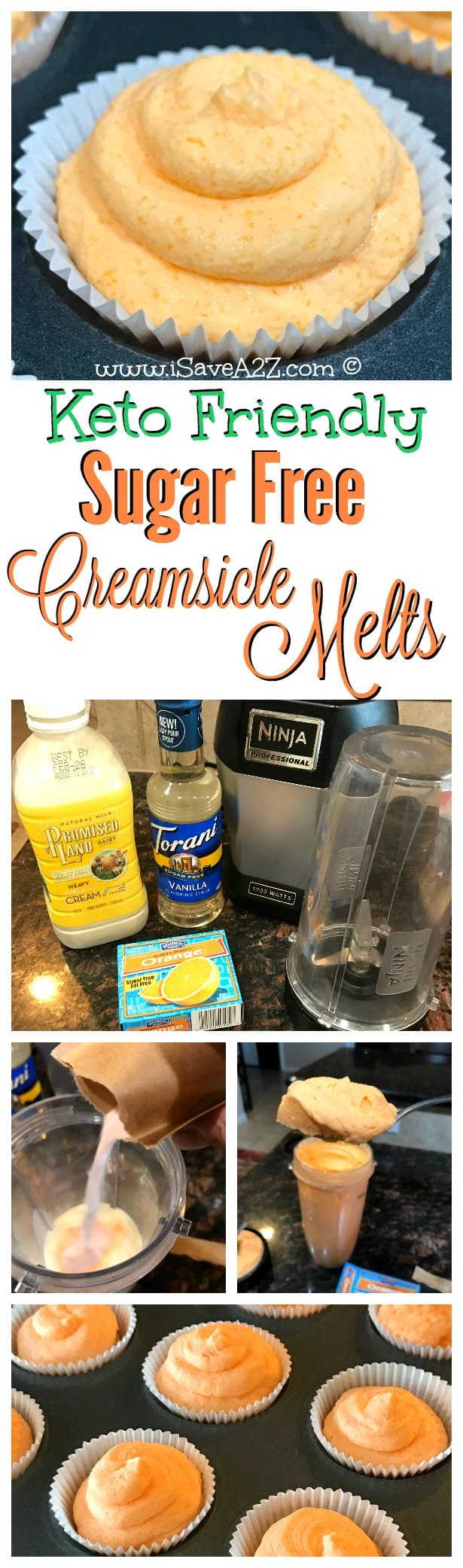 Keto Friendly Sugar Free Creamsicle Melts Treat idea