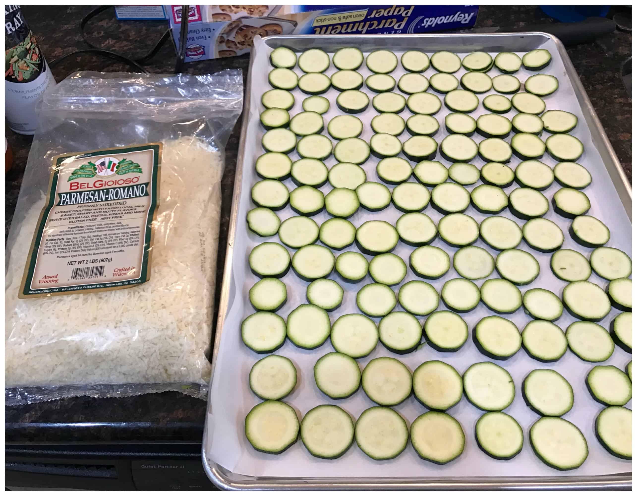 Low Carb Zucchini Parmesan Chips - Keto Friendly Recipe