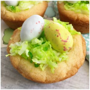 Easter Egg Bird Nest Cookie Cups Recipe