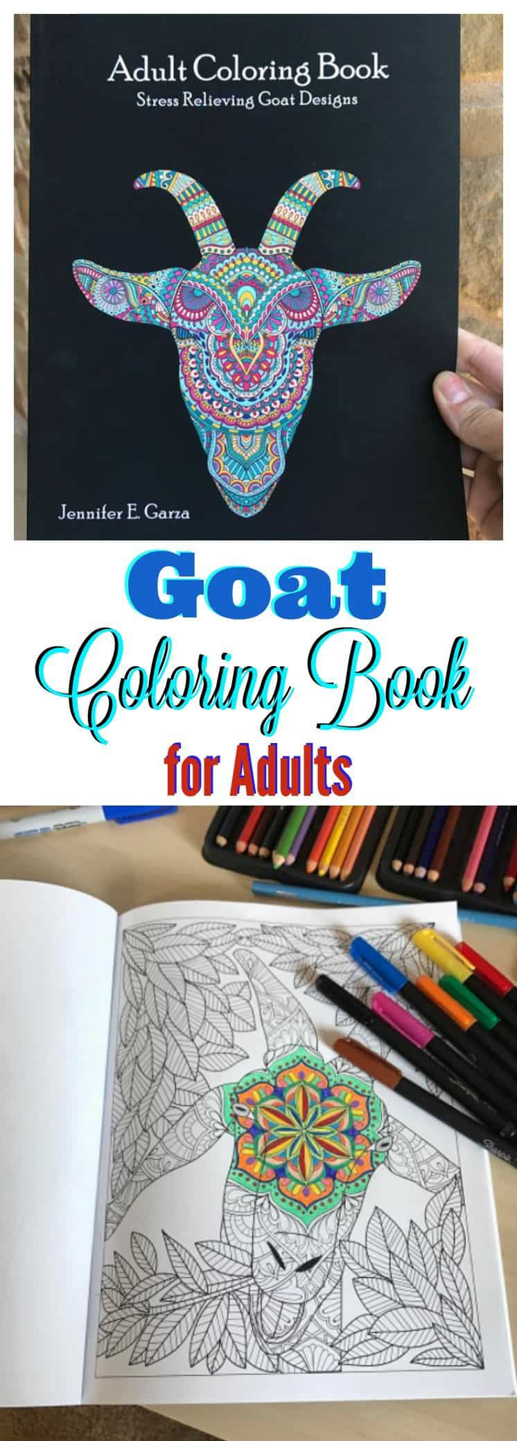 Adult Goat Coloring Book