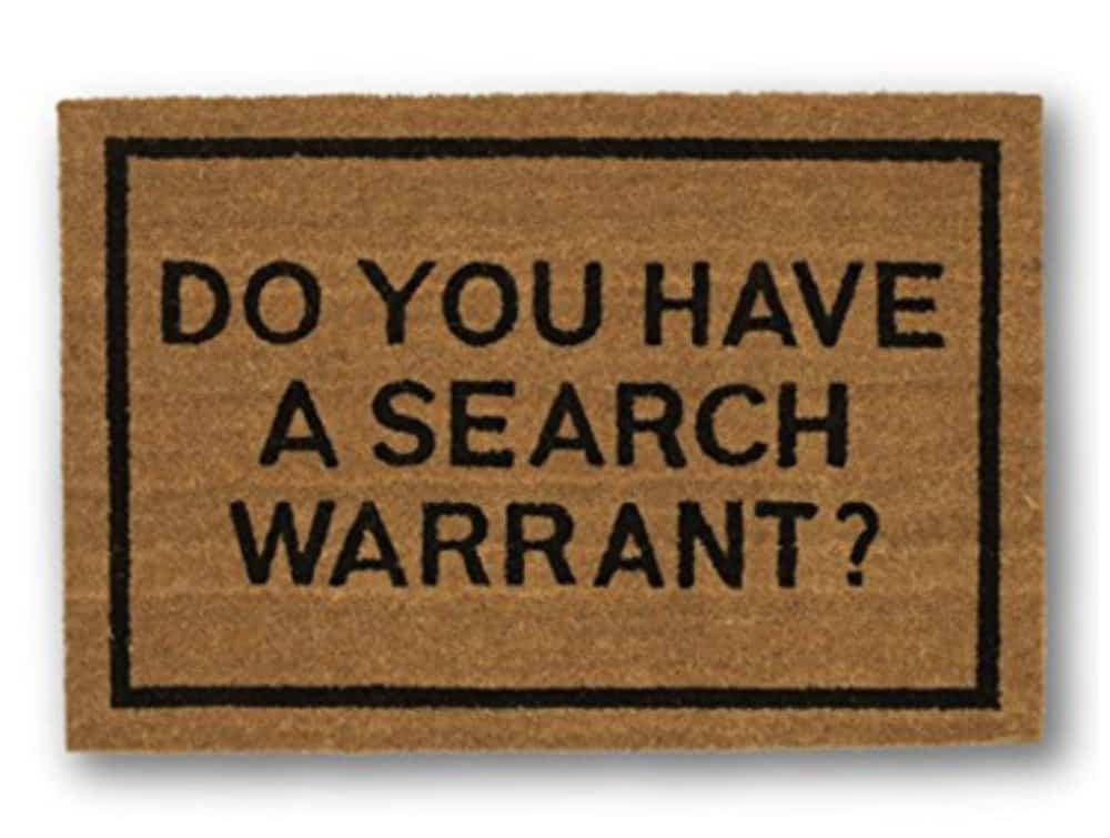 Do you have a search warrant doormat