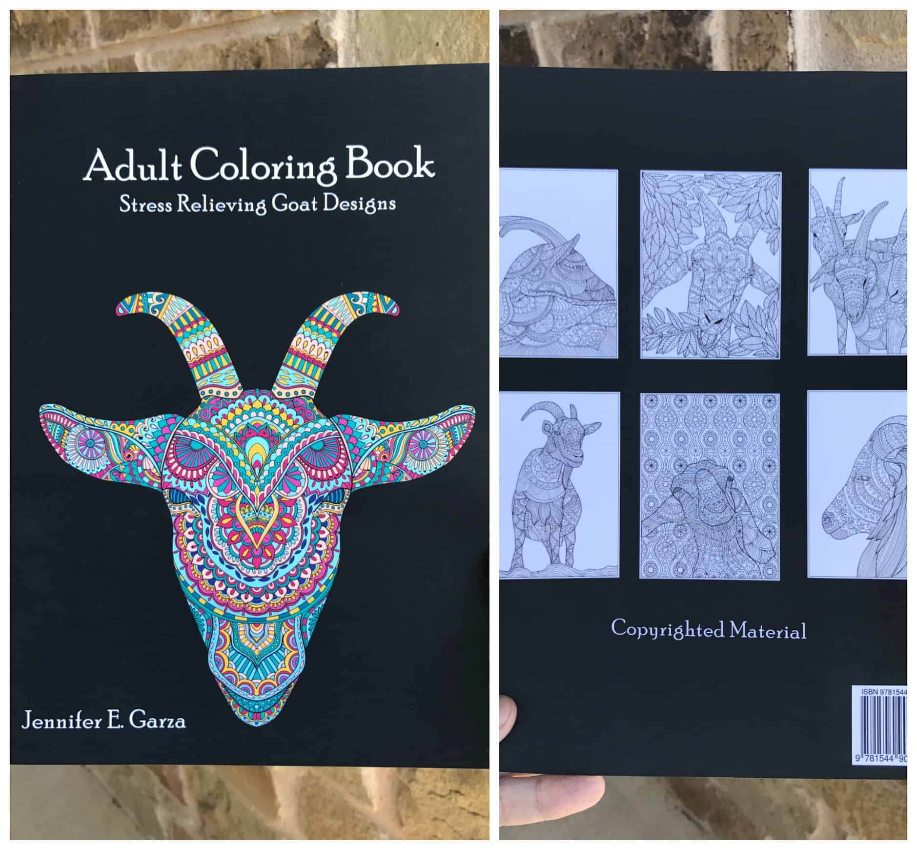 Coloring books for adults kohls - Adult Goat Coloring Book