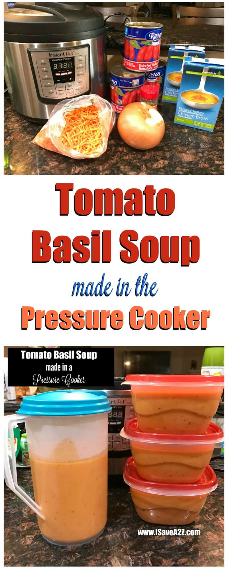 Nordstrom Tomato Basil Soup Made in a Pressure Cooker ...