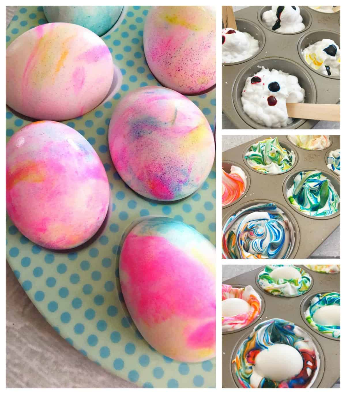 How to Dye Easter Eggs Using Shaving Cream