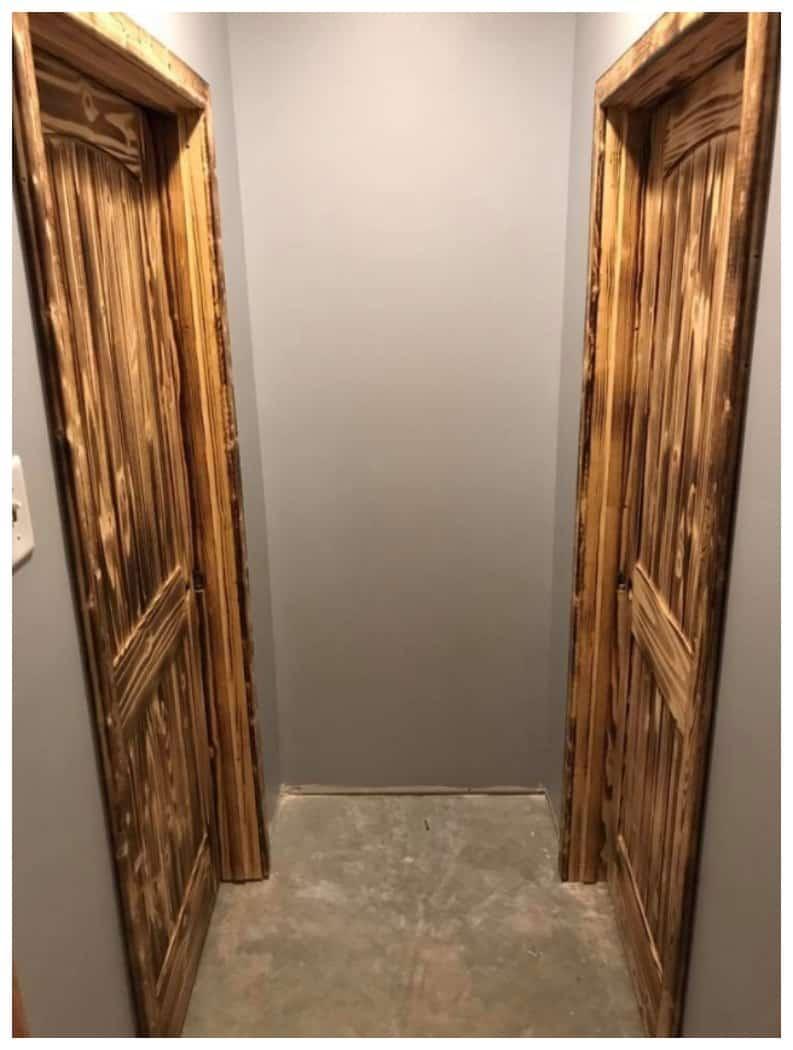 Burnt Wood Door Design Idea