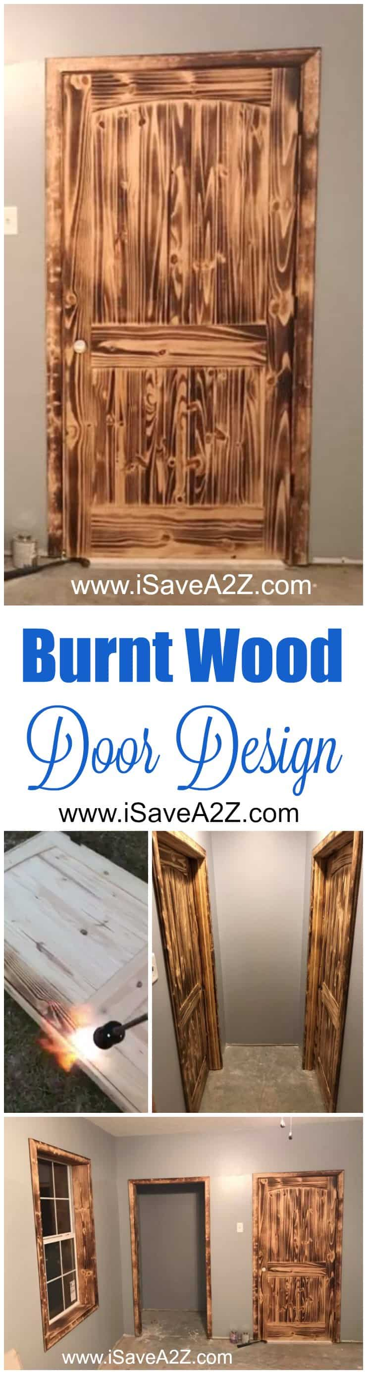 Burnt Wood Door Design Idea