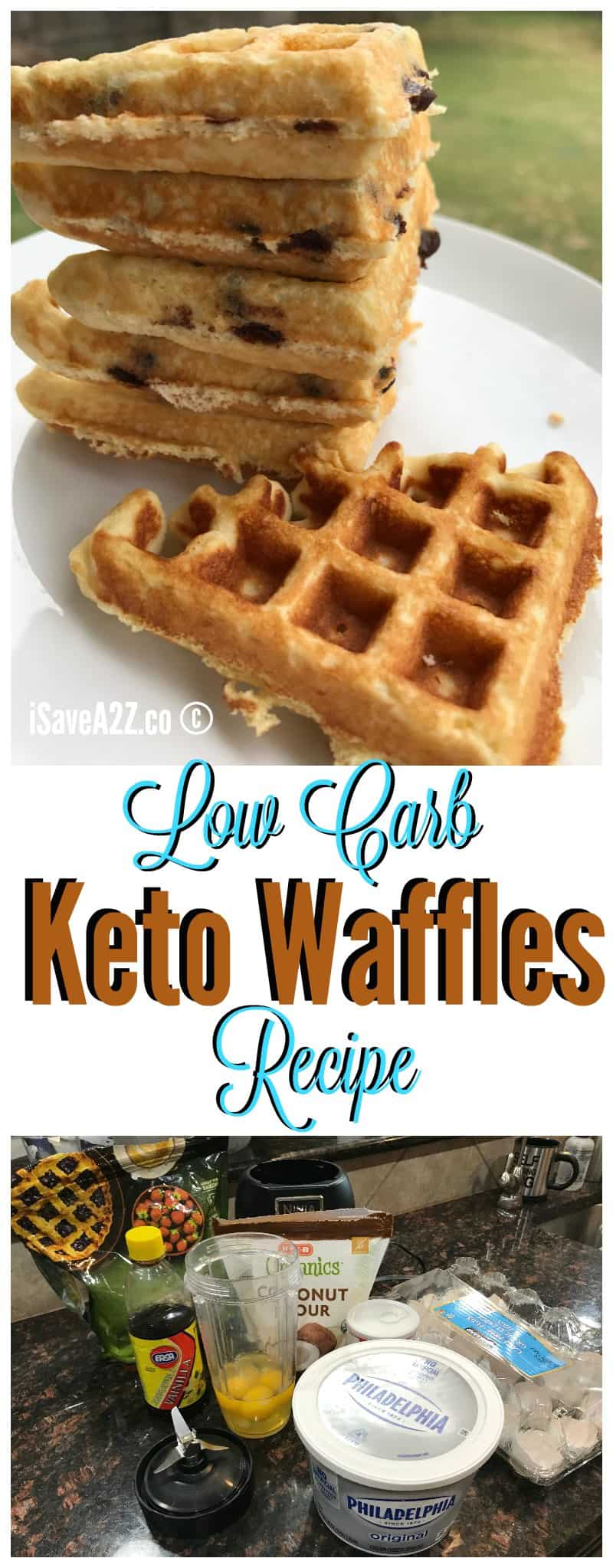 Low Carb Keto Fluffy waffles recipe