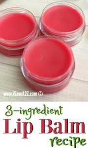 3 Ingredient Lip Balm Recipe