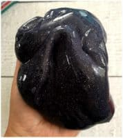 How to Make Black Glitter Slime