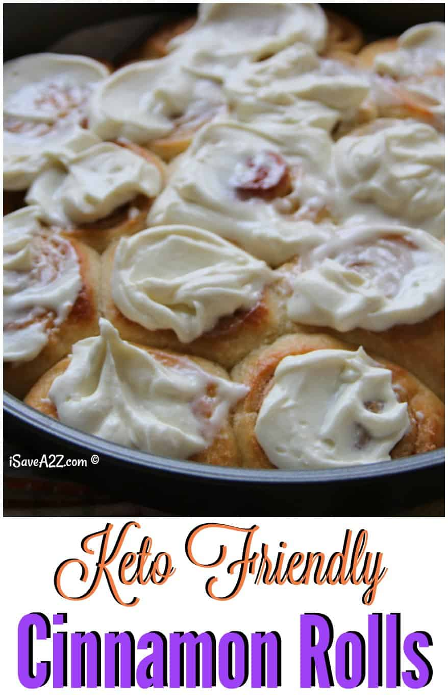 Keto Cinnamon Rolls Recipe Low Carb And Made With Cream Cheese Frosting Isavea2z Com