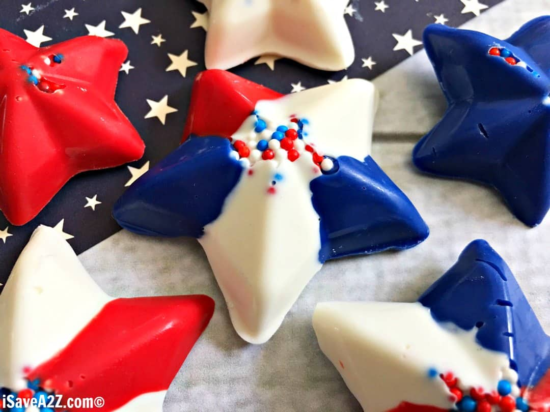 Easy Patriotic Chocolate Stars