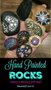 Hand Painted Rock Designs