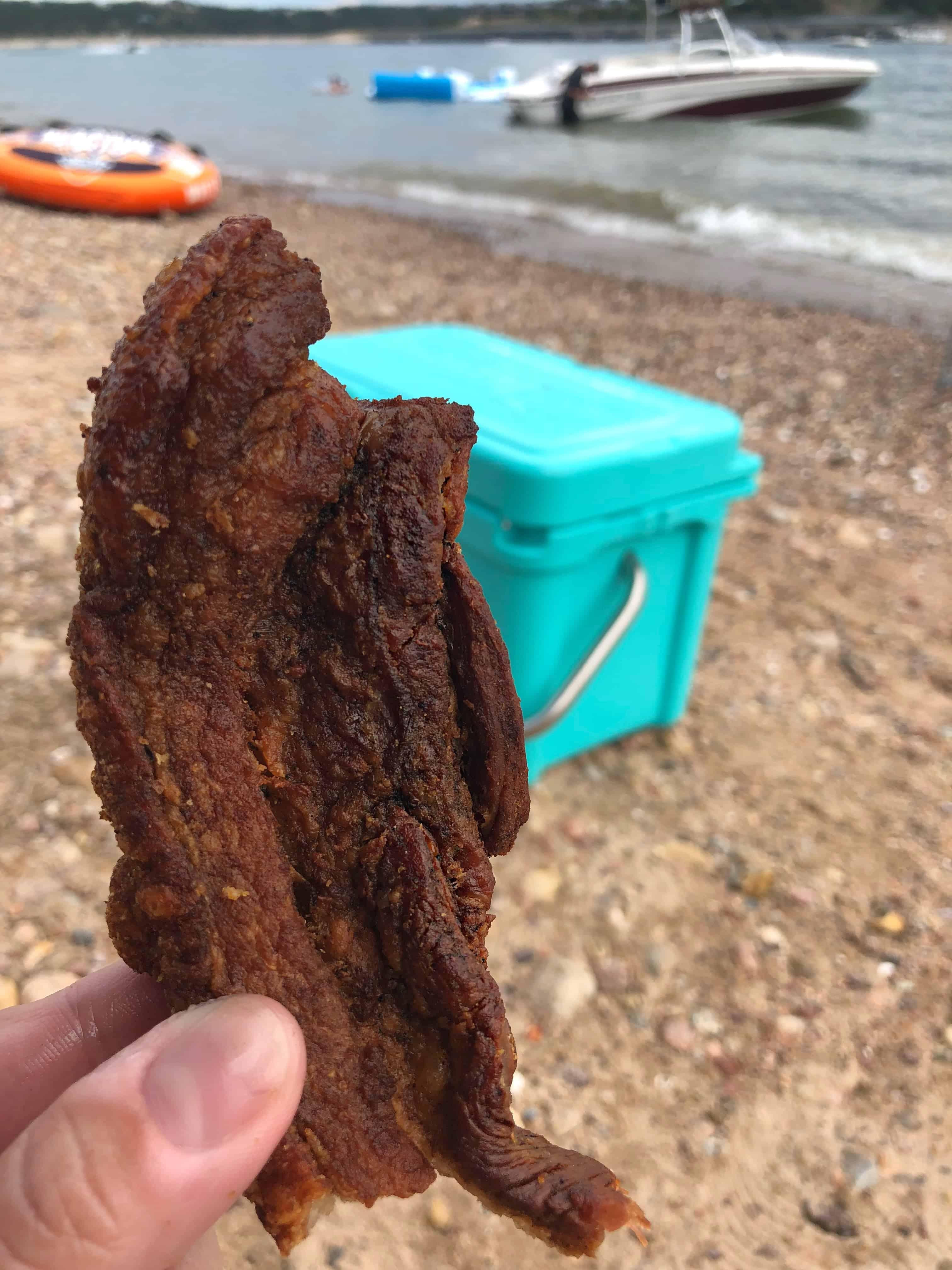 Fried pork skins as a keto snack on the go.