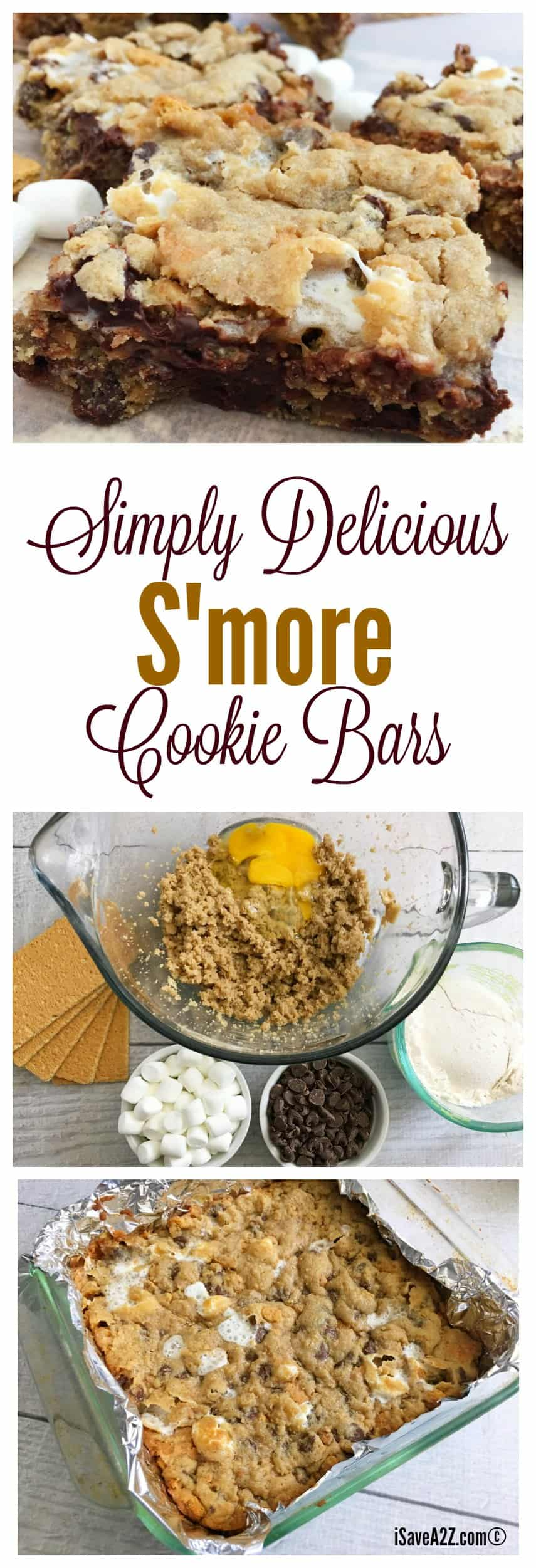 Oh yes, we did! These s'mores cookie bars are everything you want them to be, gooey, melted goodness of chocolate and marshmallows with a hint of crunch and yummy. You are going to love these!