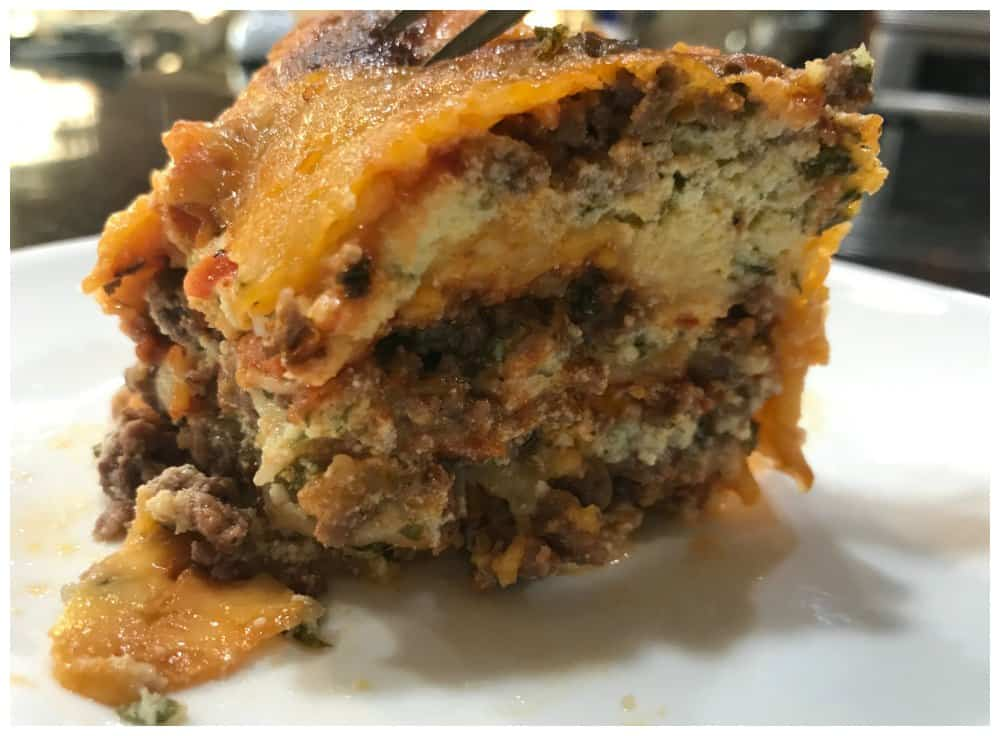Keto Lasagna Recipe (made with no noodles)